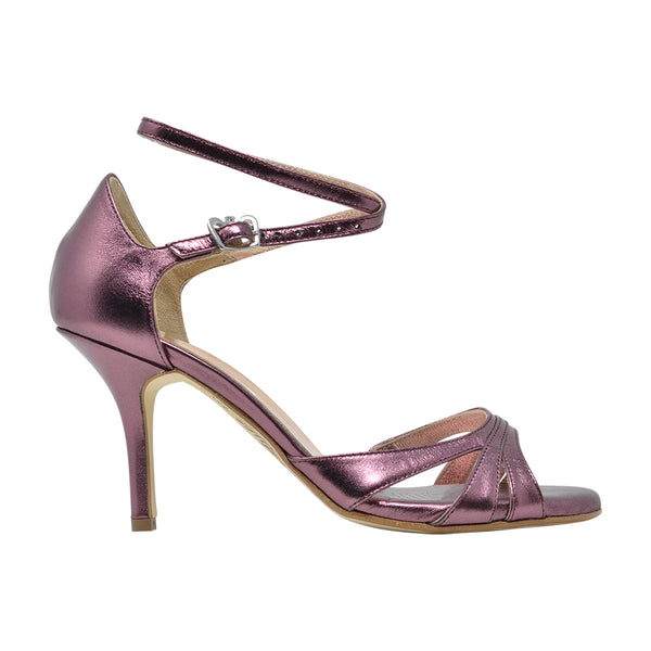Size 9 - Eva3 Twins Star in Metallic Eggplant Foil Leather - Regina