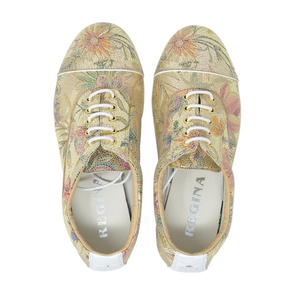 Size 5 - Katy in Metallic Gold Floral - Regina