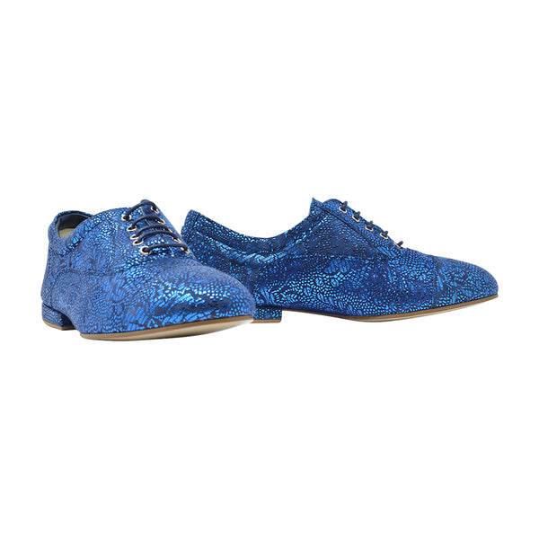 Size 9 - Katy in Electric Blue with Floral Pattern - Regina