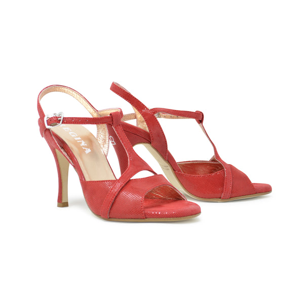 Size 7.5 - Kyoto in Shimmery Red Leather - Regina