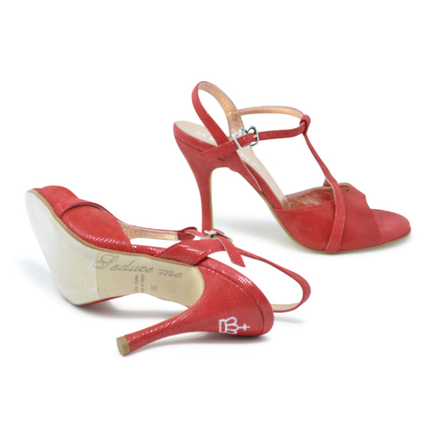 Size 6 - Kyoto in Shimmery Red Leather - Regina