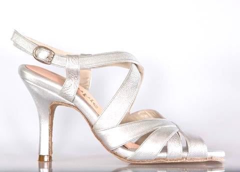 Size 4 - Miu in Silver Foil Leather - Souple