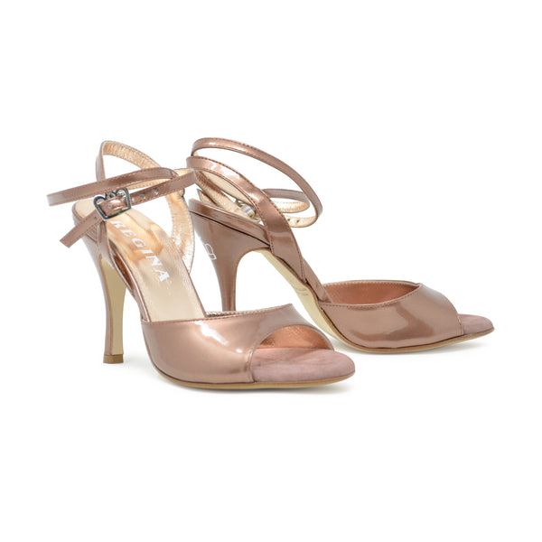 Size 6 - Nizza Twins in Bronze Patent Leather - Regina