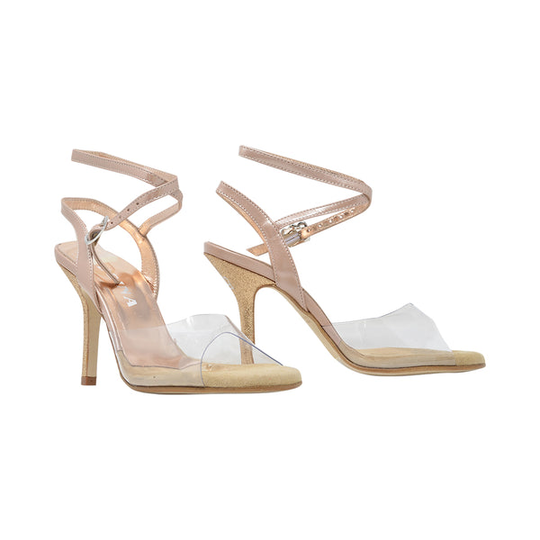 Size 7 - Nizza Twins in Clear with Gold Glitter - Regina
