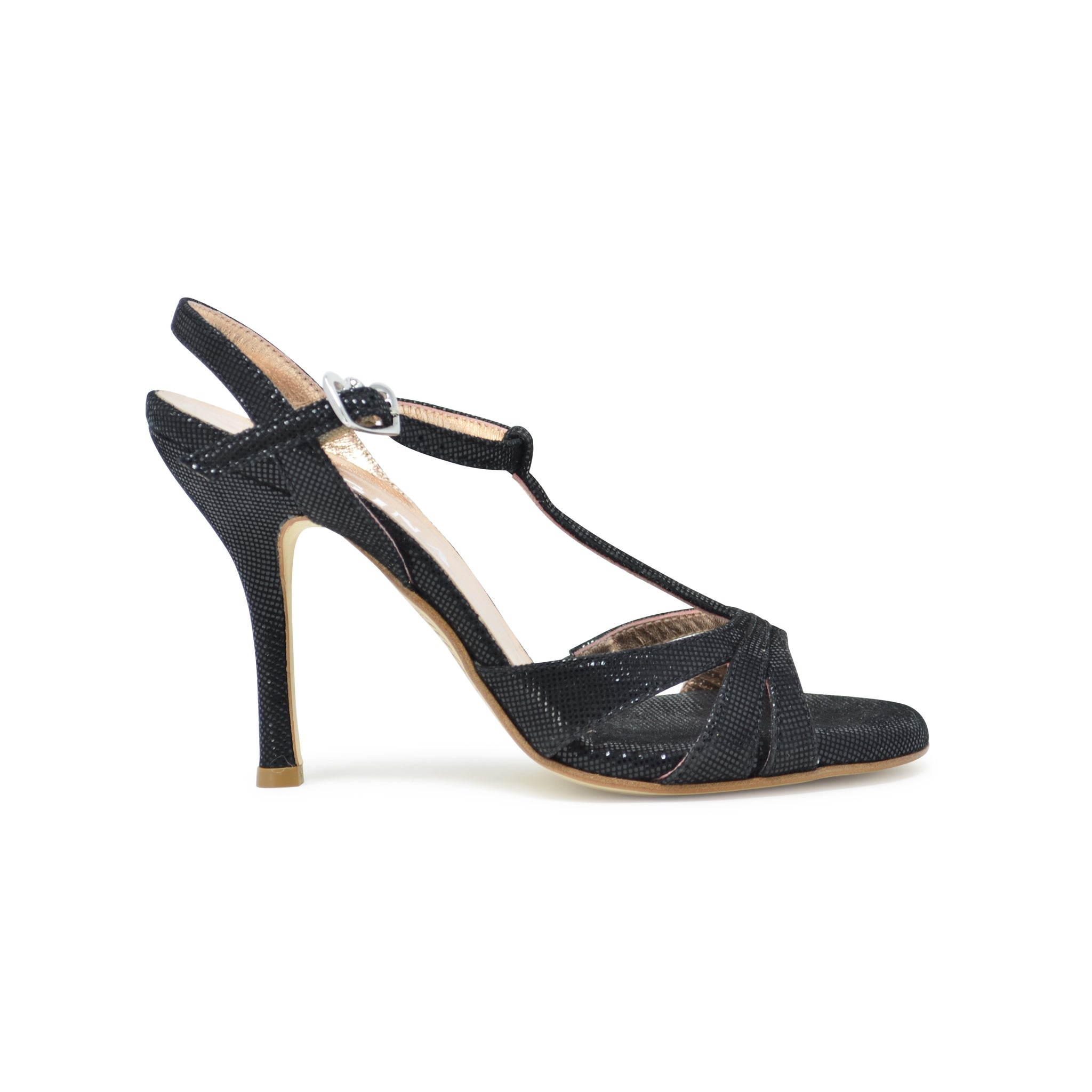Size 10 - Olivia in Shimmery Black Leather - Regina