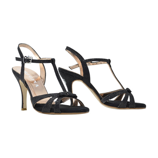 Size 5 - Olivia in Shimmery Black Leather - Regina