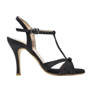 Size 8 - Olivia in Shimmery Black Leather - Regina