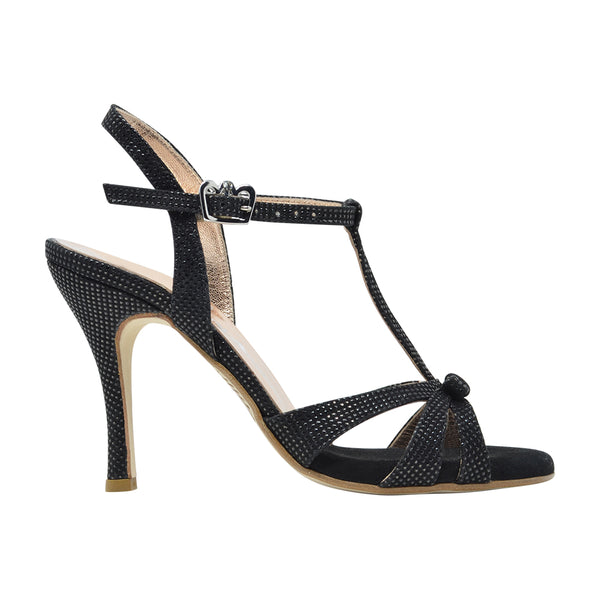 Size 9 - Olivia in Shimmery Black Leather - Regina