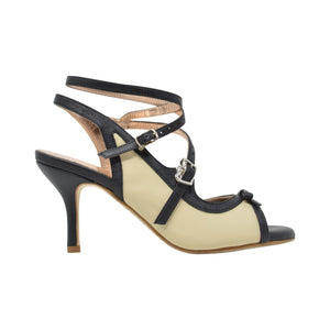 Size 9 - Pigalle in Black and Cream - Regina