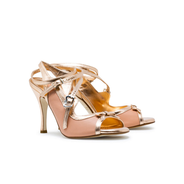 Size 5 - Pigalle in Peach and Rose Gold Leather - Regina