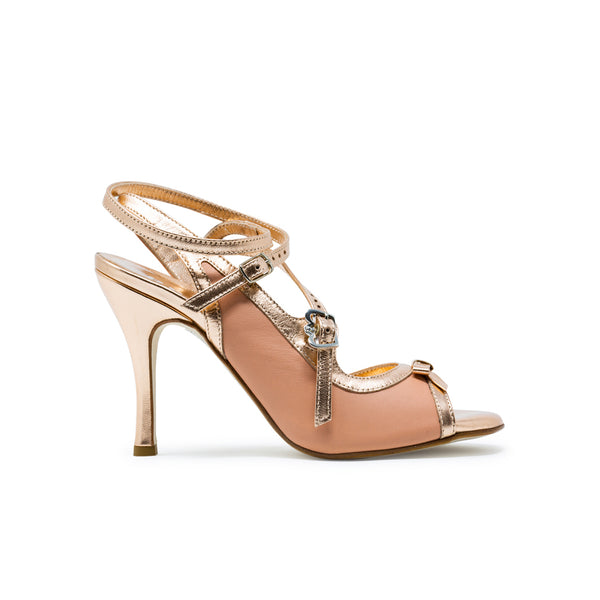 Size 6 - Pigalle in Peach and Rose Gold Leather - Regina