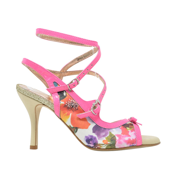 Size 6 - Pigalle Slim in Floral with Hot Pink Patent Outlines - Regina