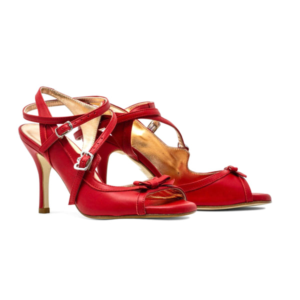 Size 6.5 - Pigalle in Red Leather - Regina