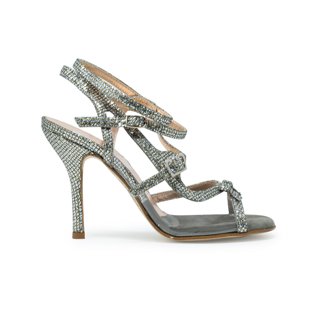 Size 4 - Pigalle in Sparkling Silver and Transparent - Regina