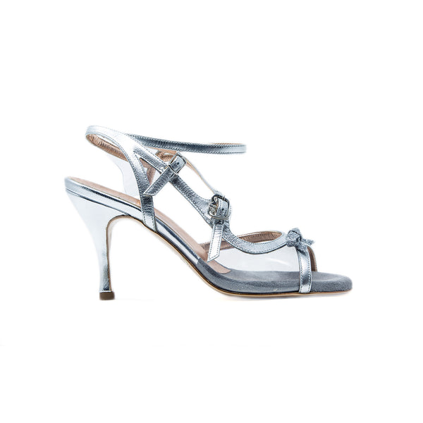 Size 6 - Pigalle in Metallic Silver and Transparent - Regina