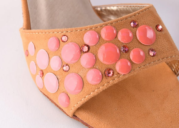 MALEVA SPARKLE PINK ENAMEL DOTS AND CRYSTALS by Maleva Label