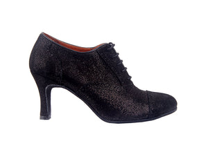 Size 7 - Practice Shoe in Black with Gold Shimmer - Yuli-B