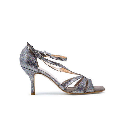 Size 6 - Recoleta Slim in Multi-Color Glitter - Regina