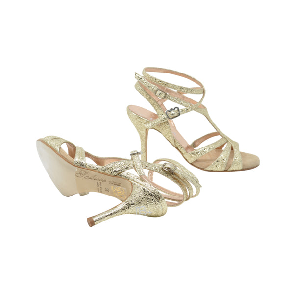 Size 6 - Recoleta Twins Slim in Pale Gold Leaf Leather - Regina