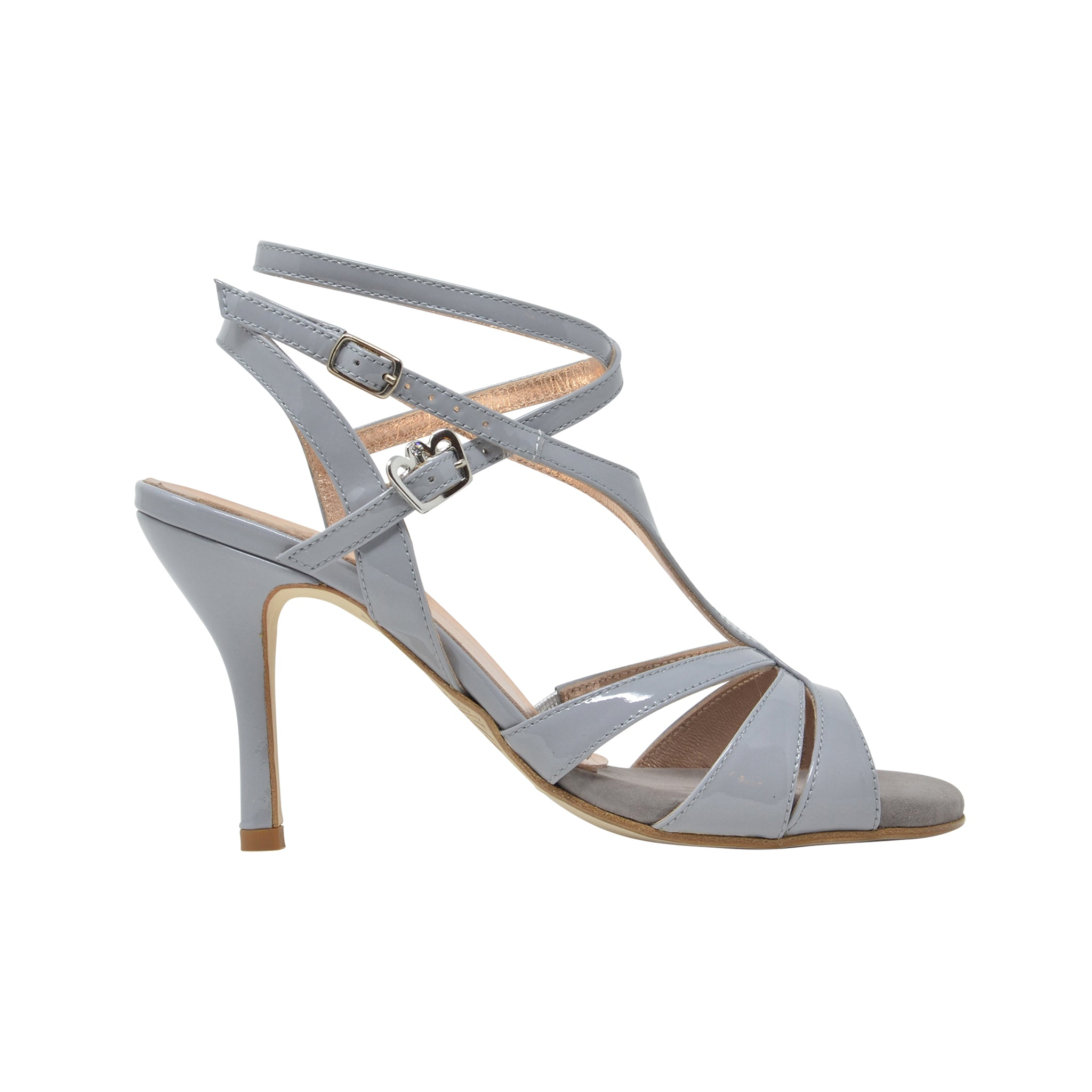 Size 6 - Recoleta Twins in Silky Gray Patent Leather - Regina