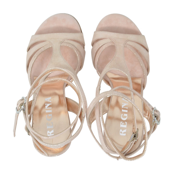 Size 5 - Recoleta Twins in Softest Pink Shimmer - Regina