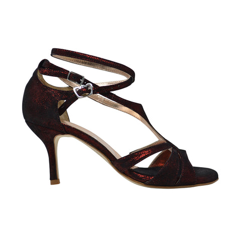 Size 8 - Recoleta with a Twist in Burgundy Shimmer - Regina