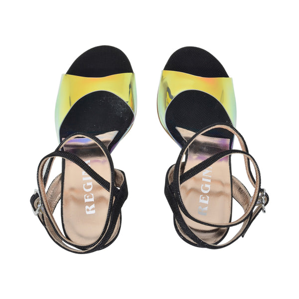 Size 6 - Nizza Twins in Holographic Neo Noir - Regina