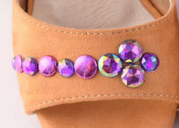Size 5 Shoe Bundle - LAURA PALMER / JASMINE / SPARKLE WITH PURPLE CRYSTALS by Maleva Label