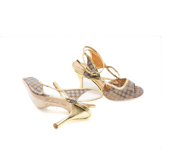 Size 7 - Tanja in Gold and Ivory - Regina