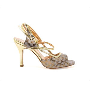 Size 5 - Tanja in Gold and Ivory - Regina