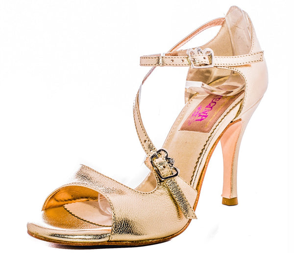 Size 9 - Venere in Metallic Gold Leather - Regina