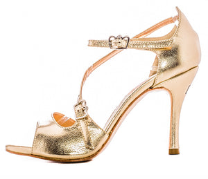 Size 8 - Venere in Metallic Gold Leather - Regina