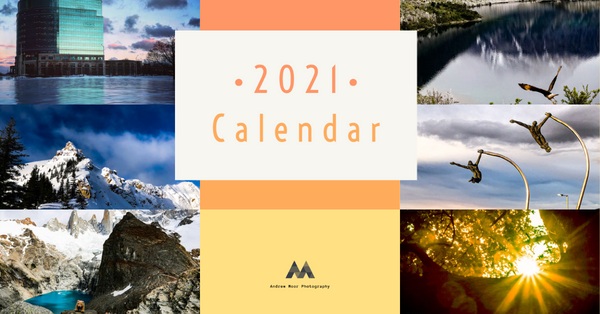 Andrew Moor Photography 2021 Calendar Image -  January to June