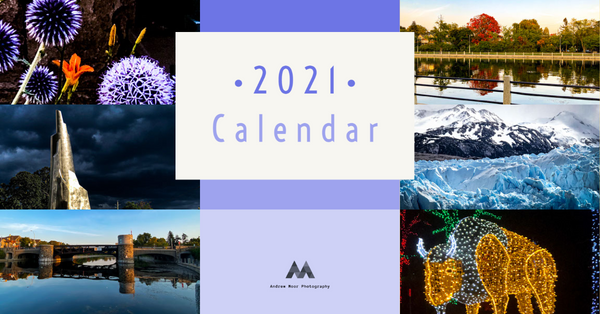 Andrew Moor Photography 2021 Calendar Image -  July to December