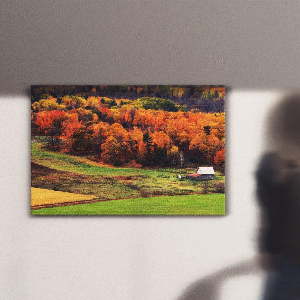 Autumn Field Canvas Square - Andrew Moor Photography