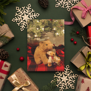 Biff and Barry - Christmas Tree Card - Andrew Moor Photography