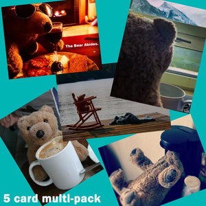 Biff da Bear 5 card Multi-Pack Square - Andrew Moor Photography