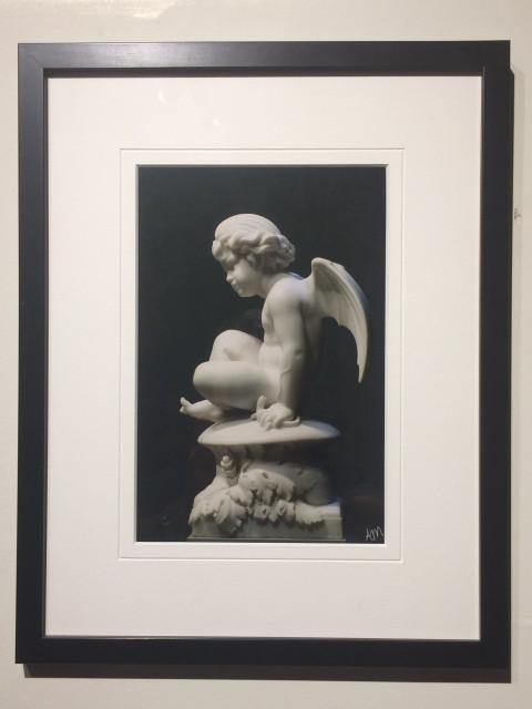"Cherub Statue ""Puck"" framed - Andrew Moor Photography"