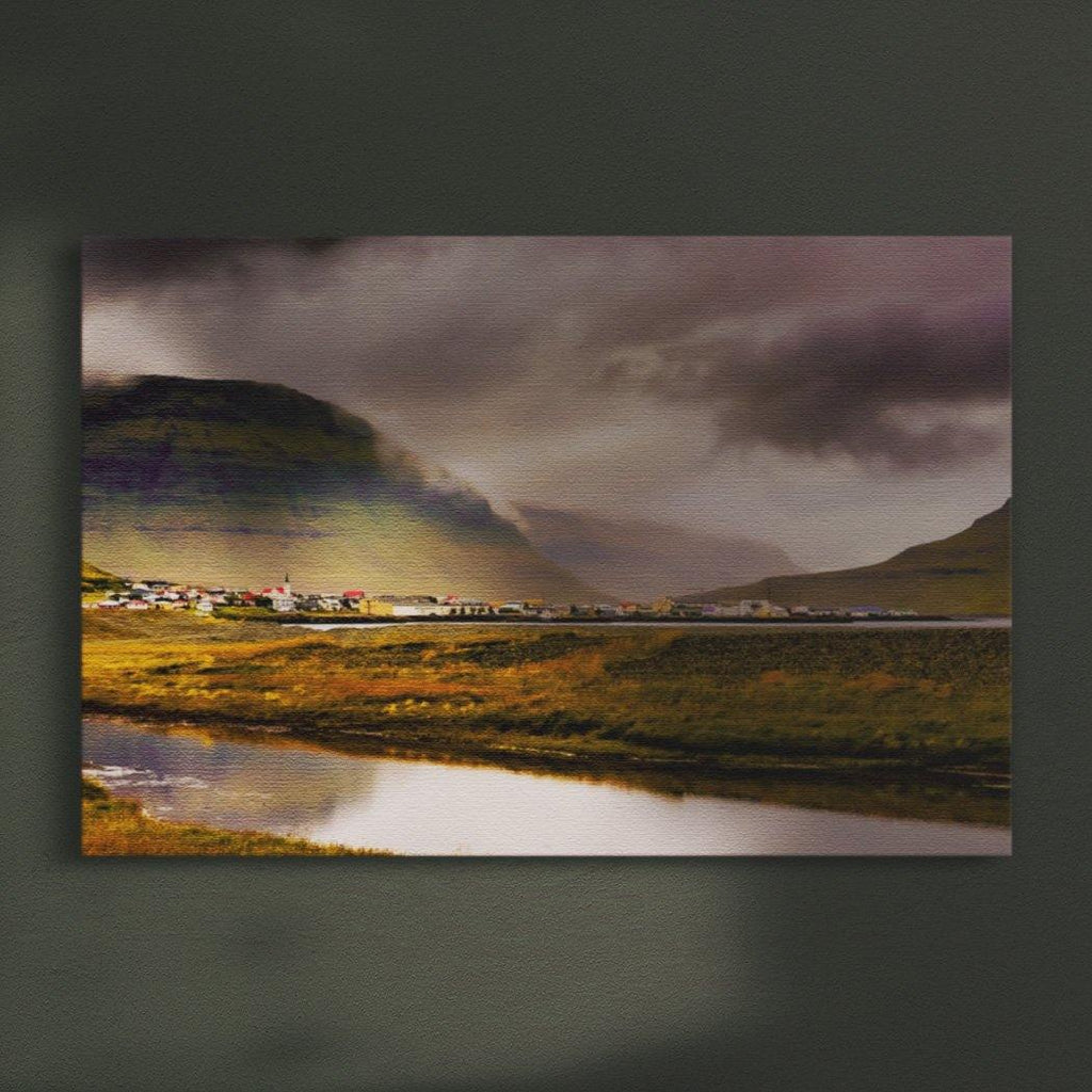 Icelandic Town Canvas Square - Andrew Moor Photography