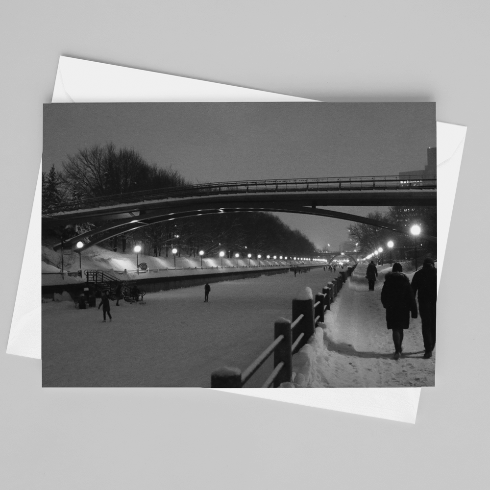 Rideau Canal Winter Card - Andrew Moor Photography
