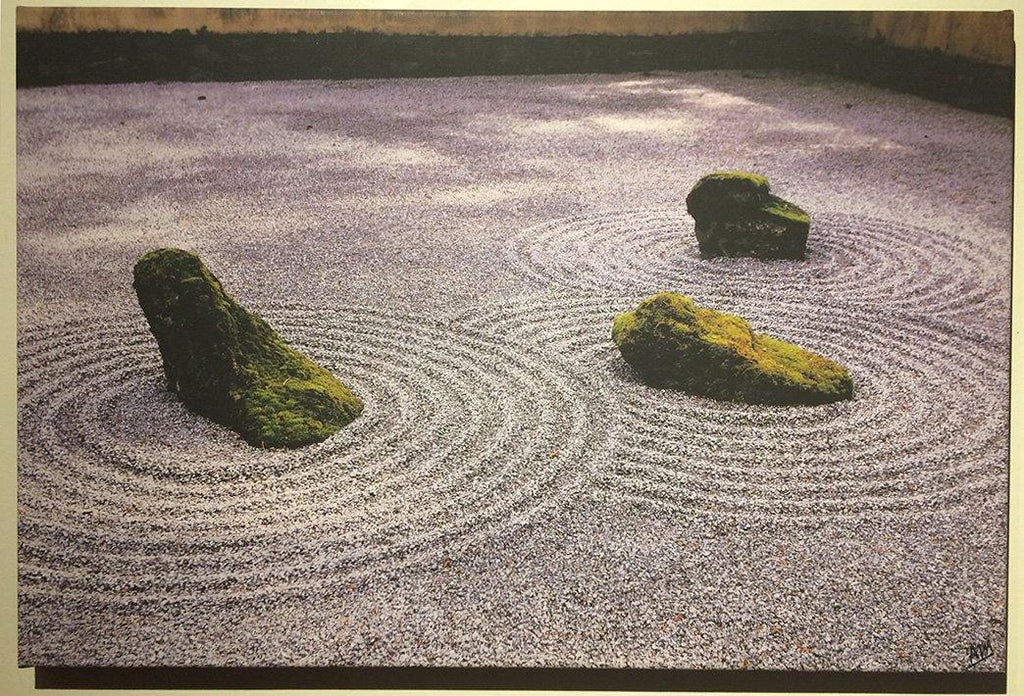 Ripples in a gravel pond - signed - Andrew Moor Photography