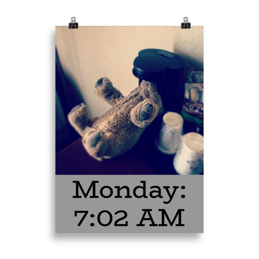 Biff da Bear Monday Coffee Poster - Andrew Moor Photography