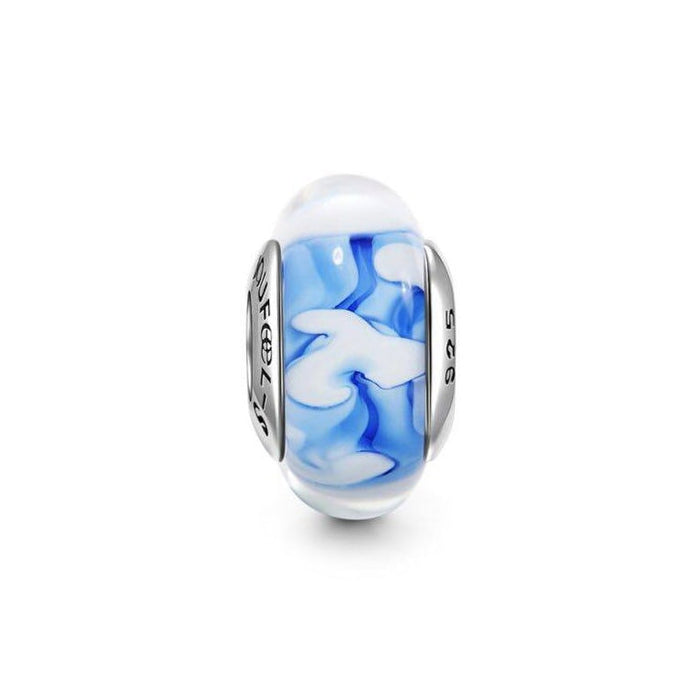 Blue Sky Murano Glass Bead Charm