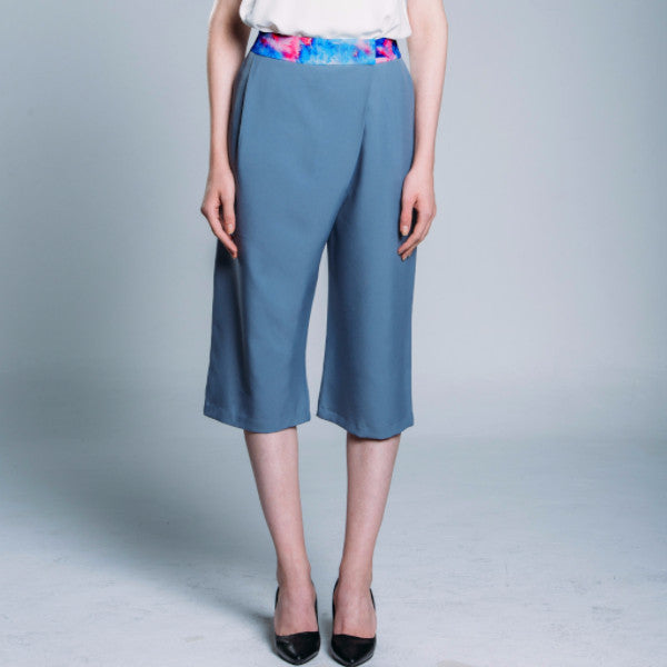 Pleated Detail Wide Leg Culottes