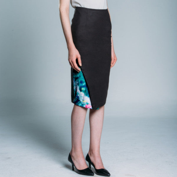 Printed Detail Pencil Skirt
