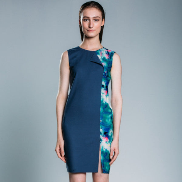Workwear Dress with Printed Detail