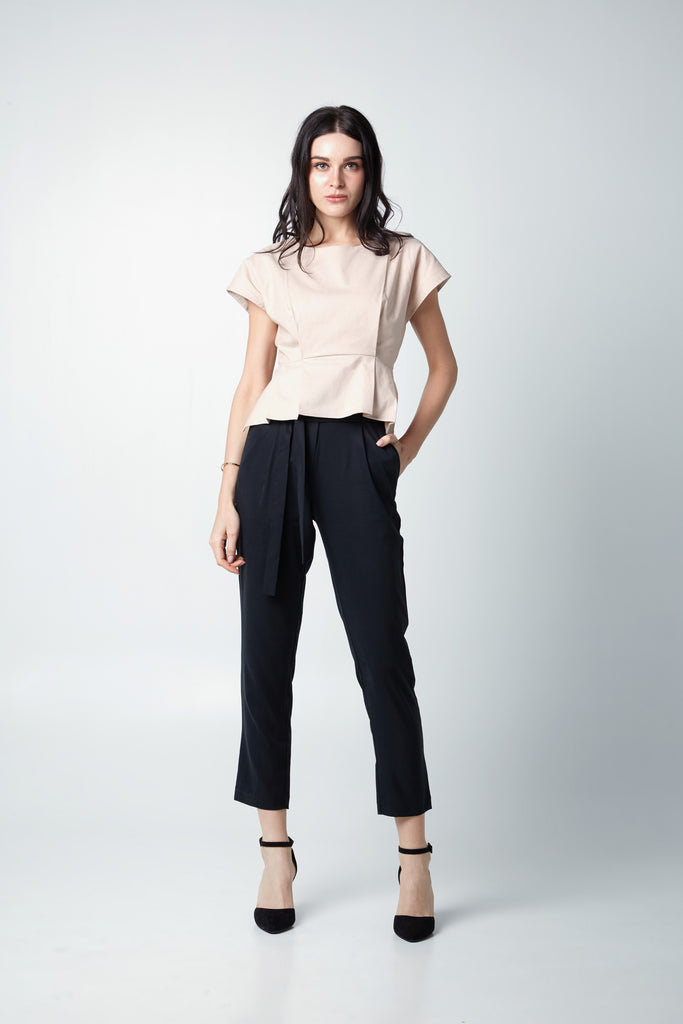 HIGH WAIST CREPE PANTS