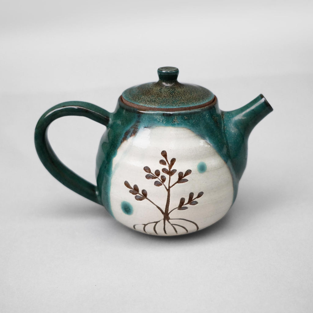 Handcrafted Okinawa Ocean Blue Tea Pot