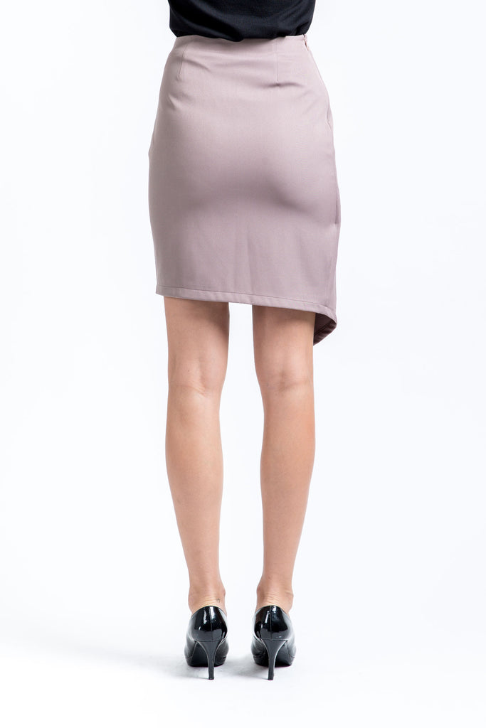 Asymmetrical Chocolate Mauve Skirt