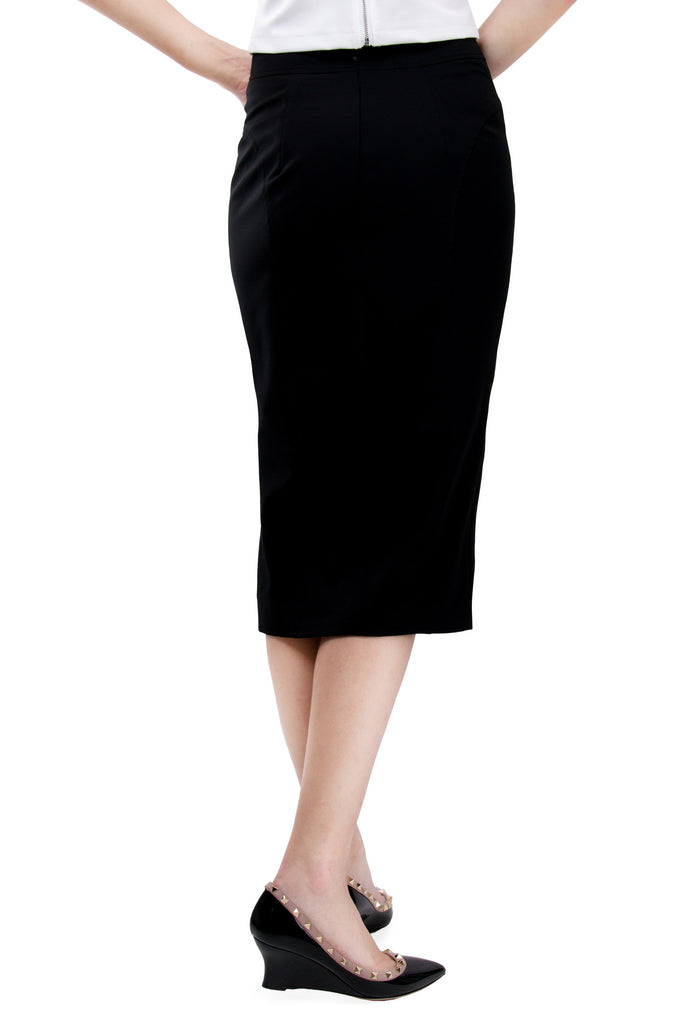 Keep it Cool High Waisted Pencil Skirt
